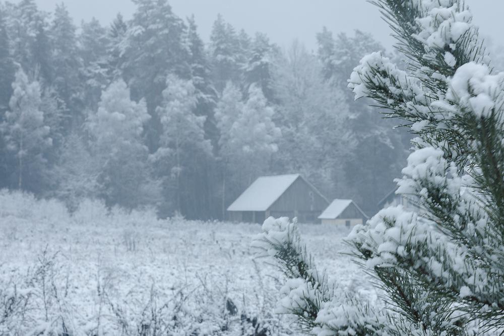 zima na wsi