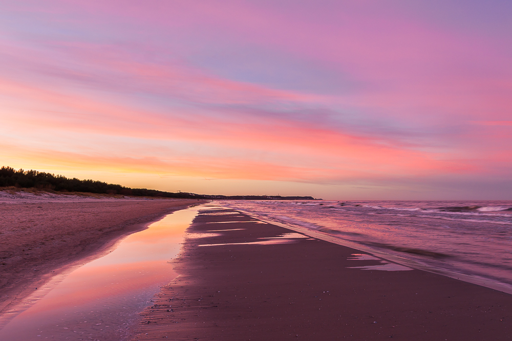 zachód słońca, Bałtyk
